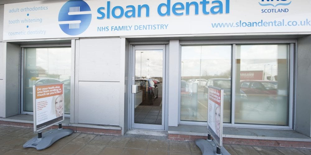 Front of Sloan Dental in Carfin, Motherwell